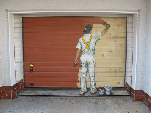Painting Garage Doors - RC Garage Door Repair , Brooklyn on Garage Door Painting Ideas  id=80660